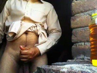 Straight Immature Masturbation Outdoor